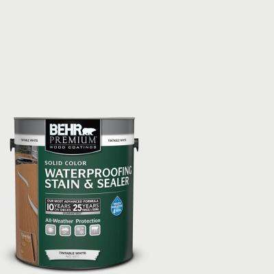 1 gal. #52 White Solid Color Waterproofing Exterior Wood Stain and Sealer