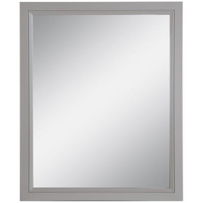 Teasian 25.67 in. W x 31.38 in. H Framed Wall Mirror in Sterling Gray