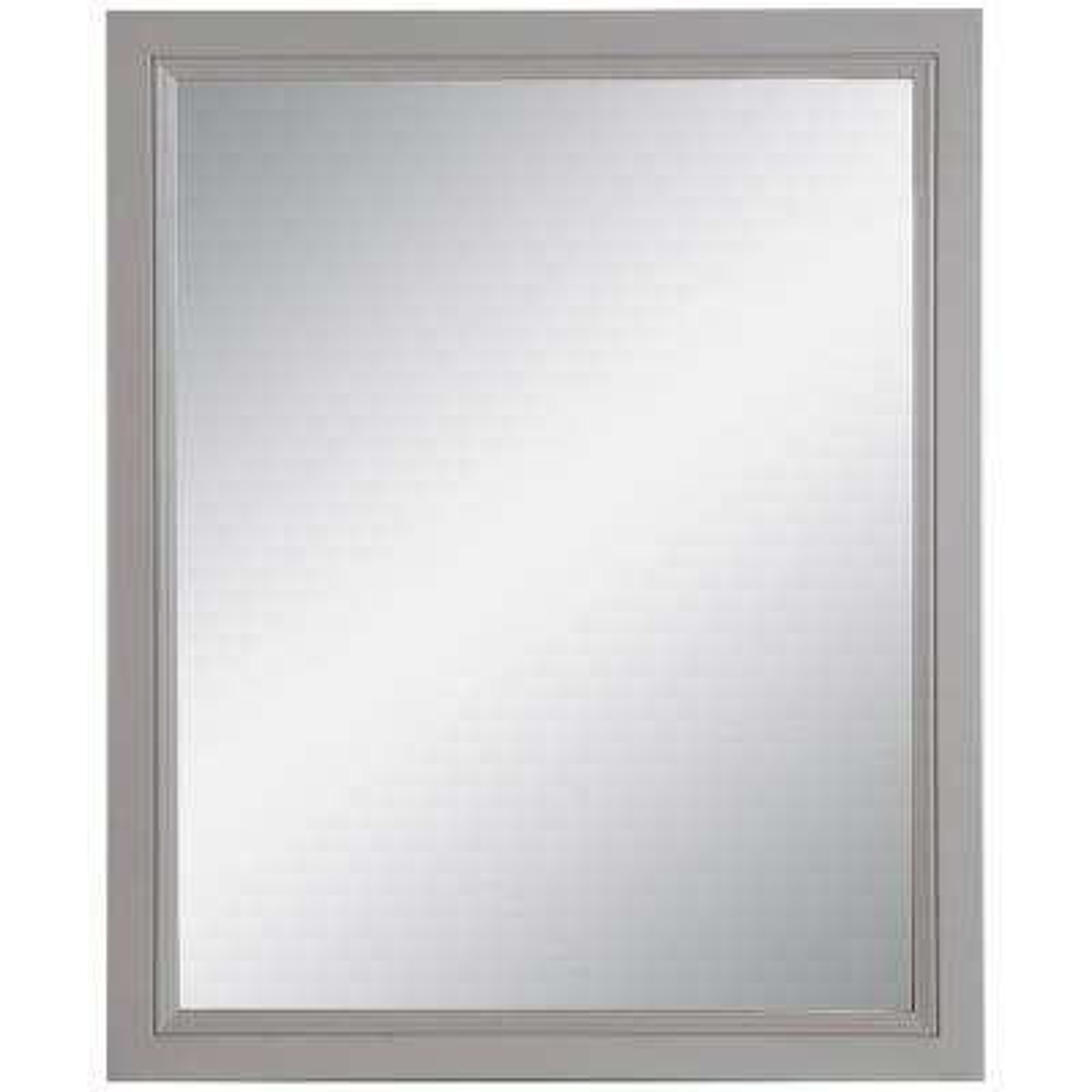 Teasian 25.67 in. W x 31.38 in. H Framed Wall Mirror in Sterling Gray