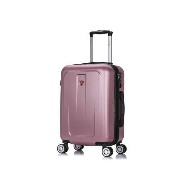DUKAP Crypto 20 in. Rose Gold Lightweight Hardside Spinner Carry-on DKCRY00S-ROS
