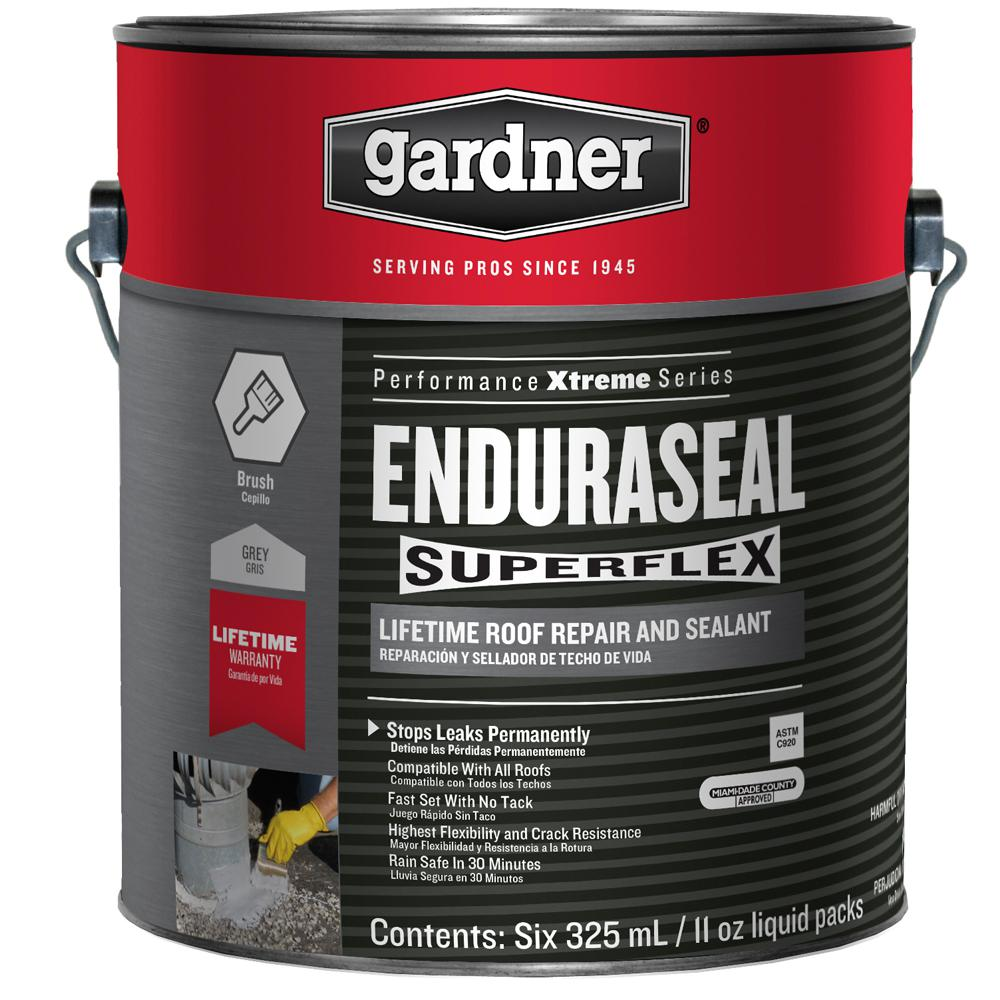 6 - 11 oz. Packs Enduraseal Superflex Lifetime Roof Repair and