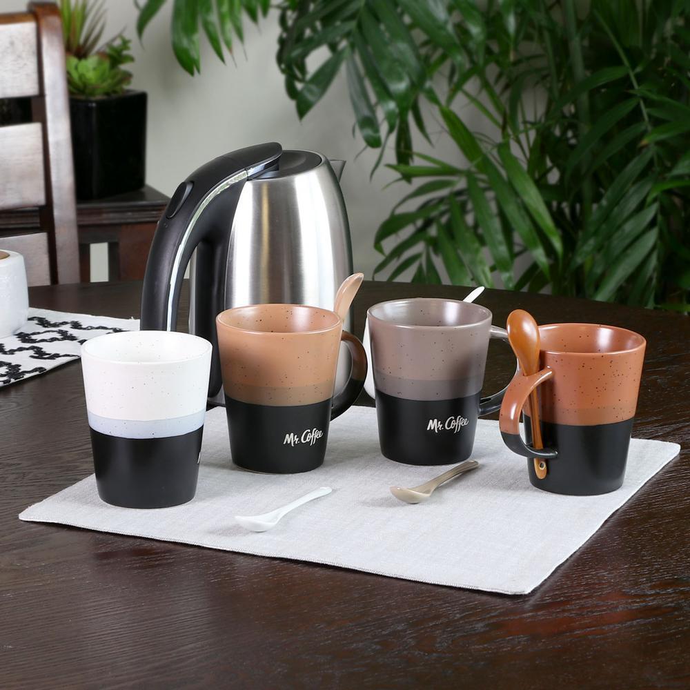 Caf Greco 14 oz. Assorted Color Coffee Mugs (Set of 4)