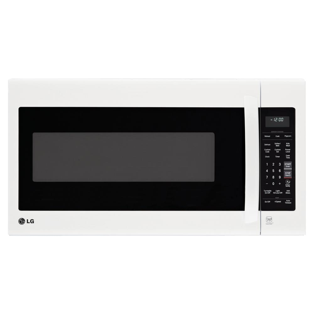 LG Electronics 2.0 cu. ft. Over the Range Microwave in Smooth White with EasyClean and Sensor Cooking