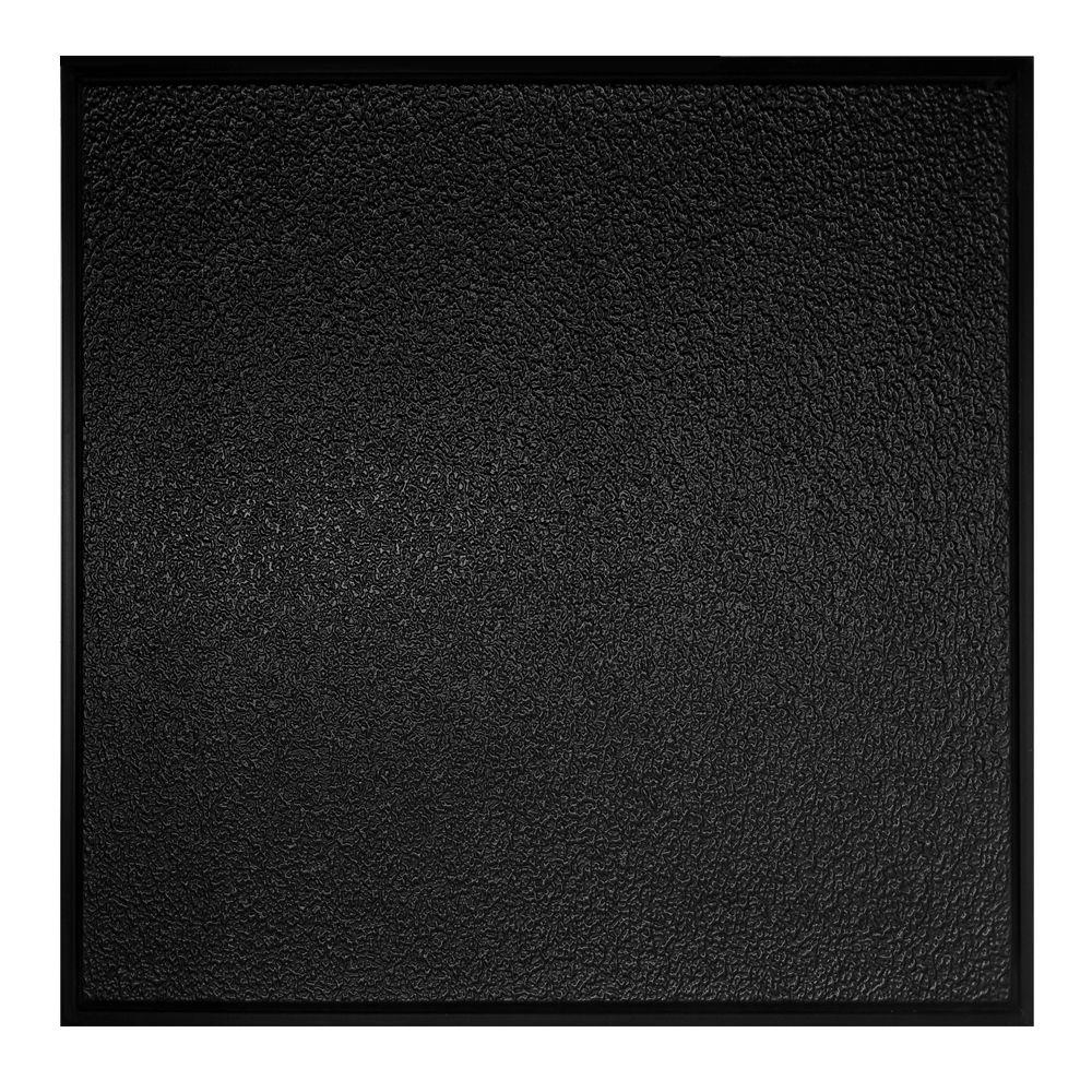 Genesis 2 ft x 2 ft stucco pro revealed edge black ceiling tile stucco pro revealed edge black ceiling tile 770 07 the home depot dailygadgetfo Gallery