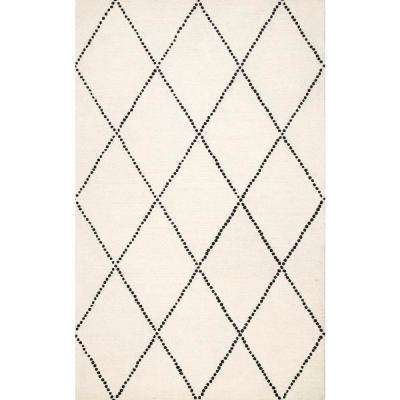 Elvia Ivory 7 ft. 6 in. x 9 ft. 6 in. Area Rug