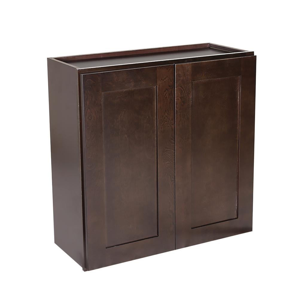 Ready to Assemble 27x12x24 in. Brookings Shaker Style 2-Door Wall Cabinet