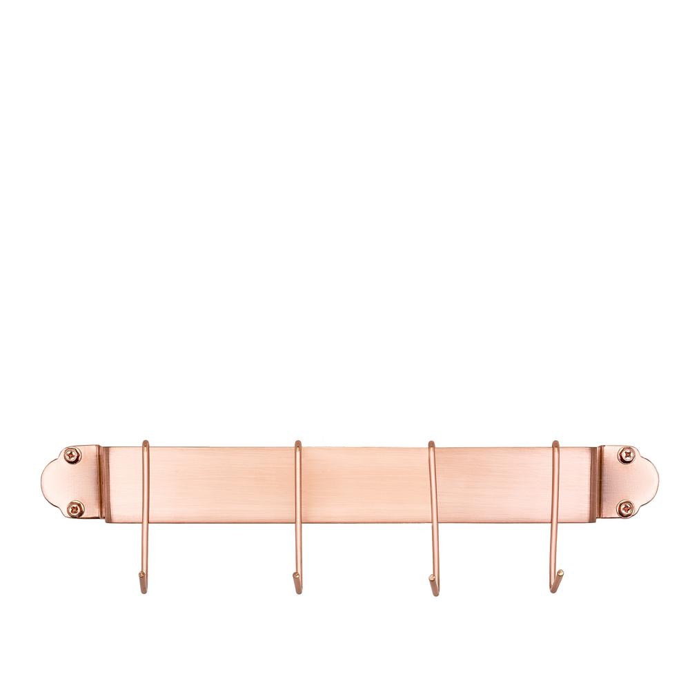 Old Dutch 18 in. Copper Bar Rack with 4 Hooks