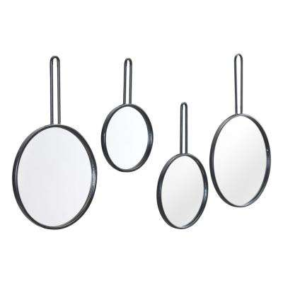 Black Round Mirror Set