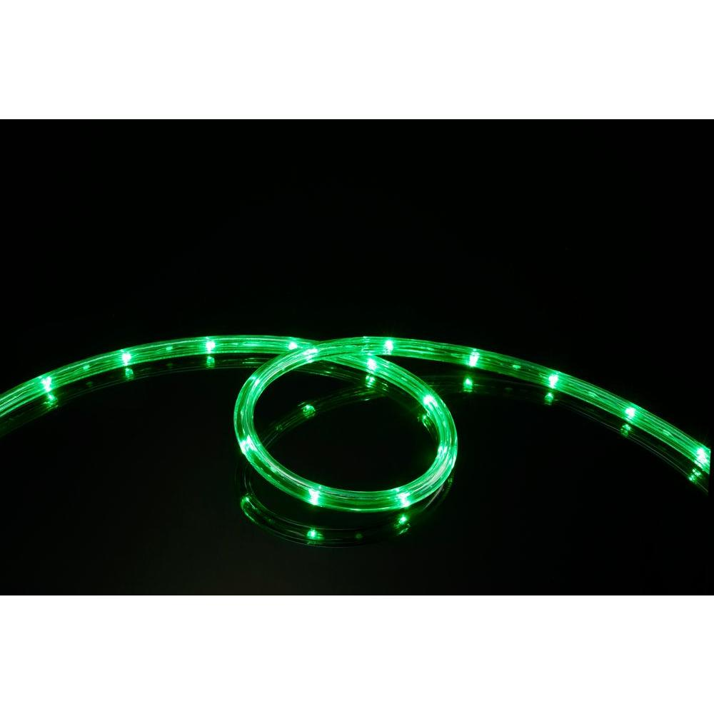 16 ft. Green All Occasion Indoor Outdoor LED Rope Light 360°