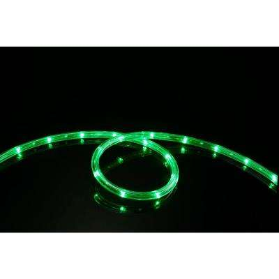 16 ft. Green All Occasion Indoor Outdoor LED Rope Light 360° Directional Shine Decoration