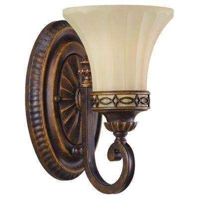 Drawing Room 1-Light Walnut Vanity Light