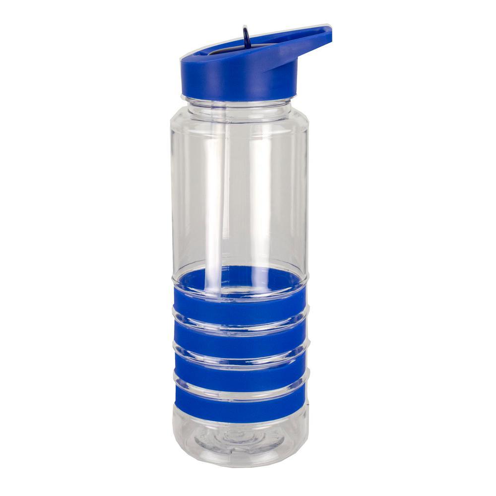 24 oz. Blue Sports Plastic Water Bottle