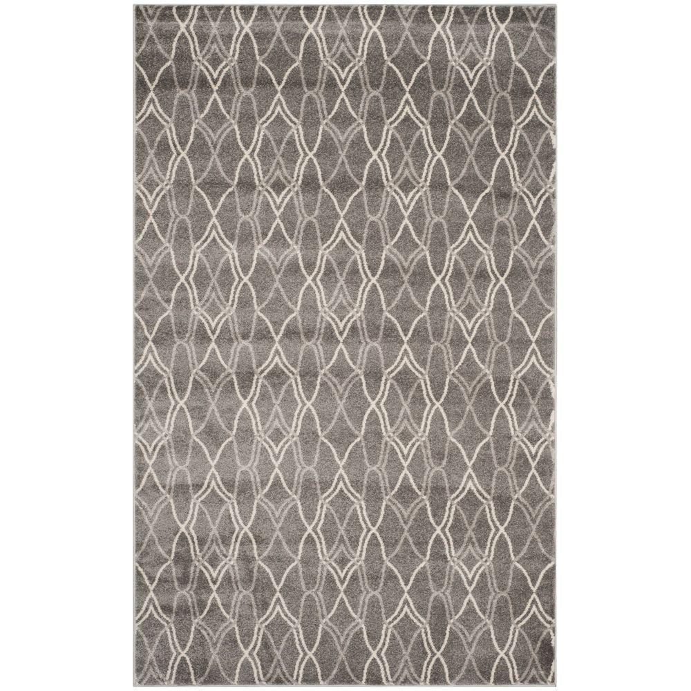 Amherst Gray/Light Gray 4 ft. x 6 ft. Indoor/Outdoor Area Rug