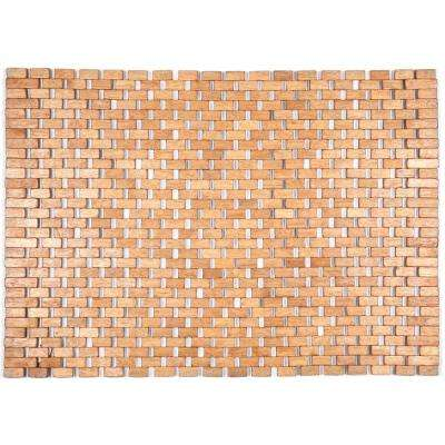 Roosevelt Brown 18 in. x 30 in. Exotic Wood Mat