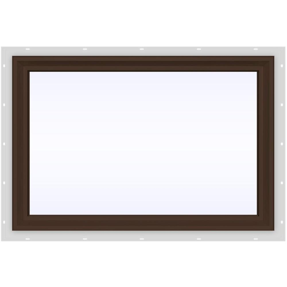 35.5 in. x 23.5 in. V-2500 Series Brown Painted Vinyl Picture