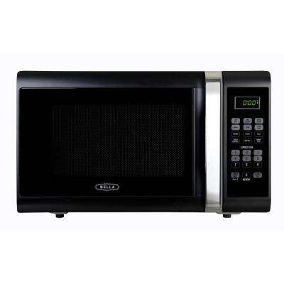 1.1 cu. ft.1000-Watt Countertop Microwave Oven in Black with Chrome