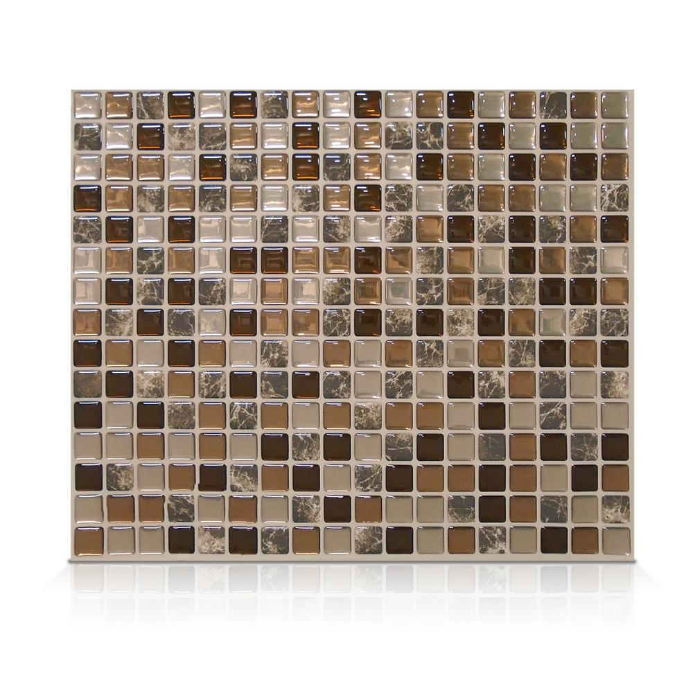 Smart Tiles Minimo Roca 11.55 In. W 9.64 In H Peel And Stick Self