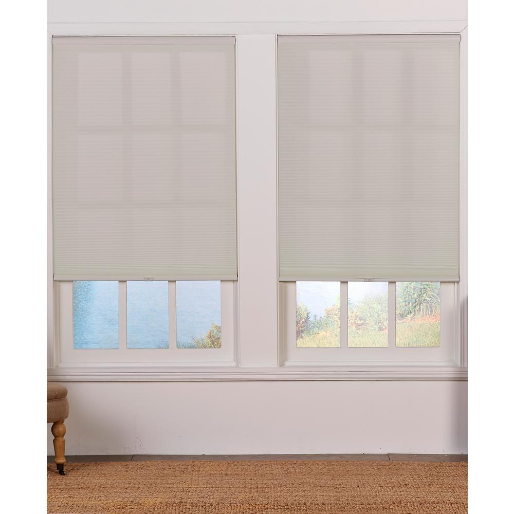 Perfect Lift Window Treatment Cut-to-Size Gray Cloud Cordless Light Filtering Fade resistant Cellular Shades 21 x 64 in. L