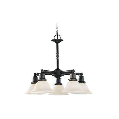 Sussex 5-Light Heirloom Bronze 1-Tier Chandelier