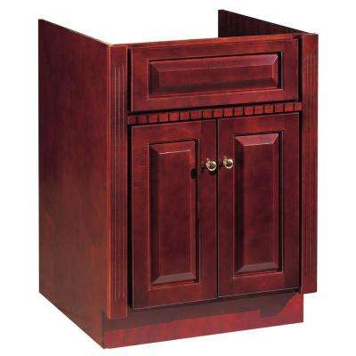 24 in. W Bathroom Vanity Cabinet Only in Cherry Ambrosia Finish