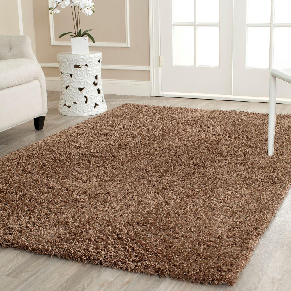 Safavieh Monterey Shag Light Brown 4 ft. x 6 ft. Area Rug
