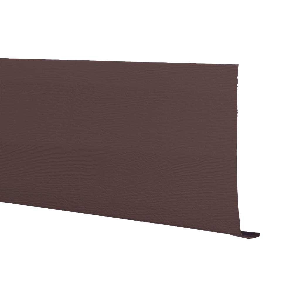 6 in. x 12 ft. Royal Brown Aluminum Cedar Texture Fascia Trim