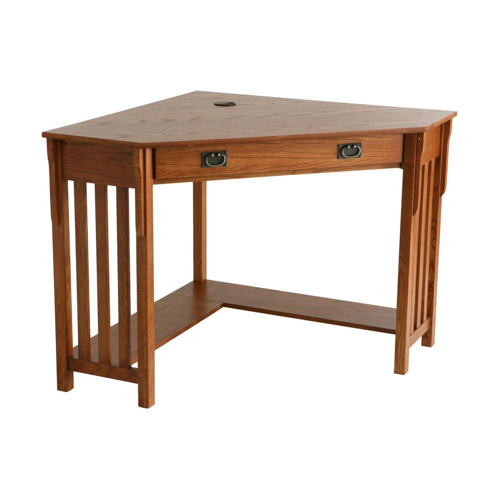 Southern Enterprises Mission Oak Desk-HO6641 - The Home Depot