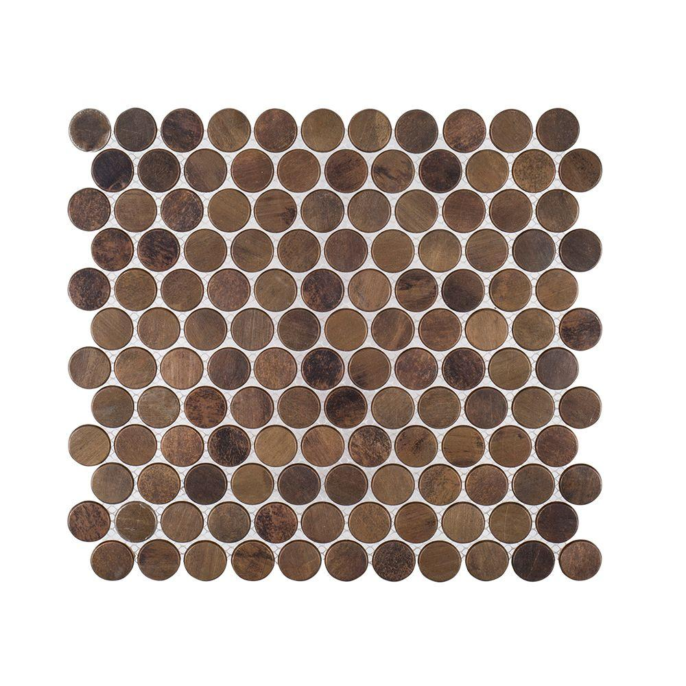 Copper Pennies 10 in. x 10-3/4 in. x 8 mm Metal
