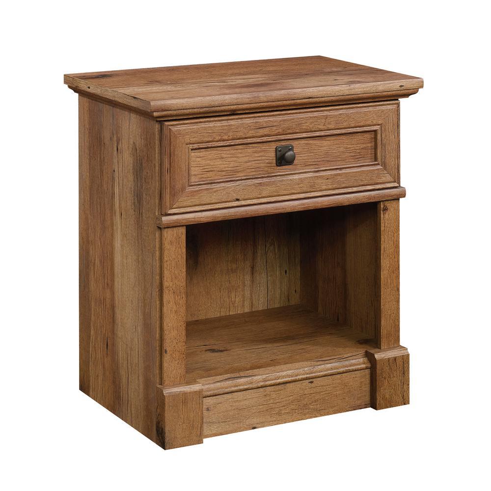 Palladia 1-Drawer Vintage Oak Nightstand