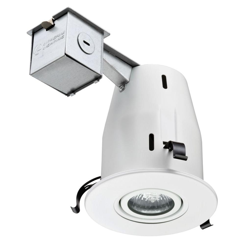 lithonia lighting 4 in matte white recessed gimbal lamped led