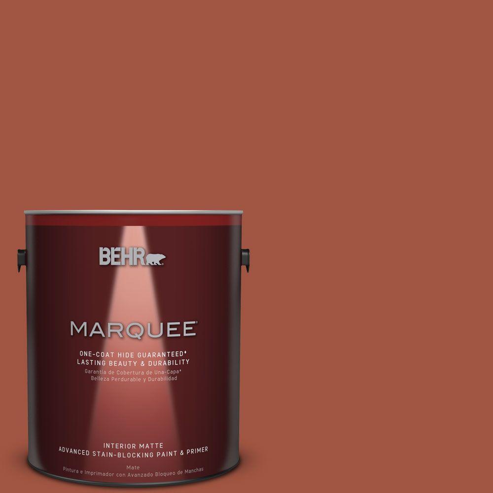 1 gal. #MQ1-25 Kalahari Sunset One-Coat Hide Matte Interior Paint
