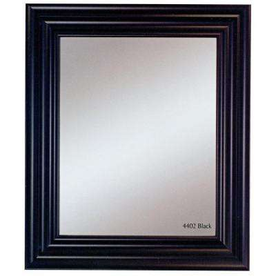 Carraige House 31 in. x 37 in. Black Framed Wall Mirror