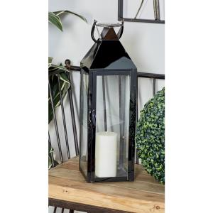 Silver Candle Lanterns with Handles (Set of 2) by