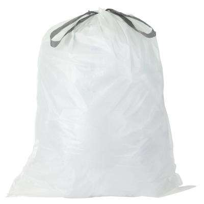 15 Gal. White Drawstring Kitchen Trash Bags (Case of 200 Bags)