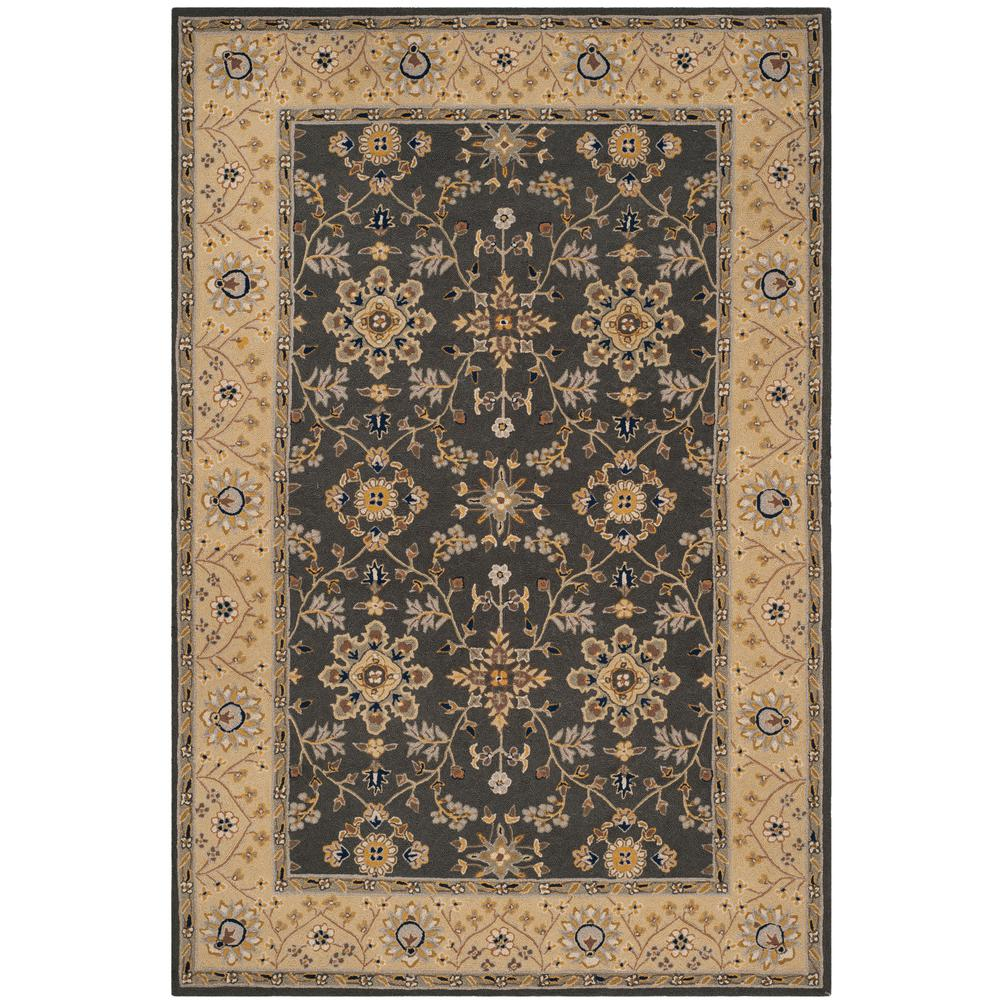 Safavieh Easy Care Gray Cream 4 Ft X 6 Area Rug