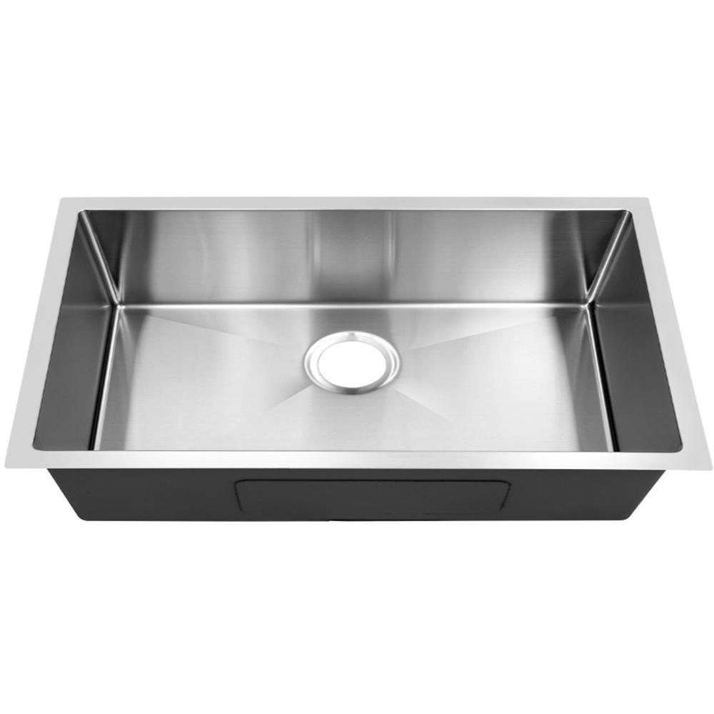 Single bowl 18 in. Stainless Steel Undermount Kitchen Sink