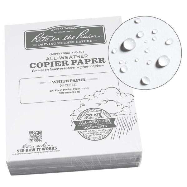 All-Weather 8-1/2 in. x 11 in. 20 lbs. Bulk Copier Paper, White (500-Sheet Pack)