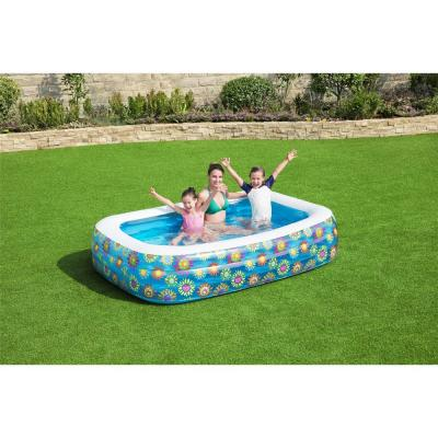 Family 96 in. x 22 in. Rectangular 60 in. Deep Above Ground Inflatable Pool