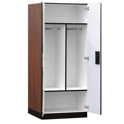 32 in. W x 76 in. H x 24 in. D Wardrobe Wood Designer Storage Cabinet Assembled in Mahogany