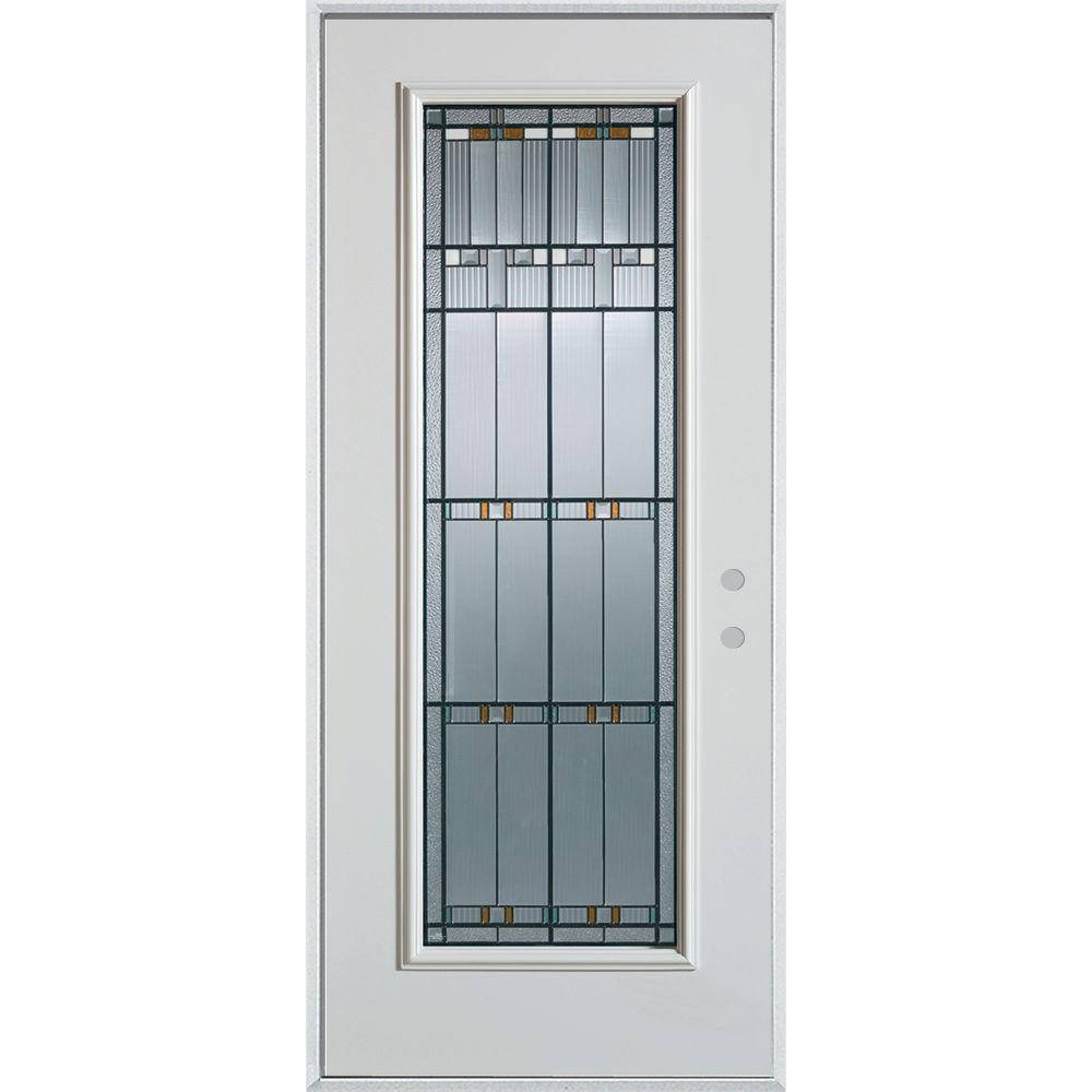 ... This Review Is From 33 375 In X 82 Left Hand Architectural Full Lite  Decorative Painted Stanley Steel Door Replacement Glass All About ...