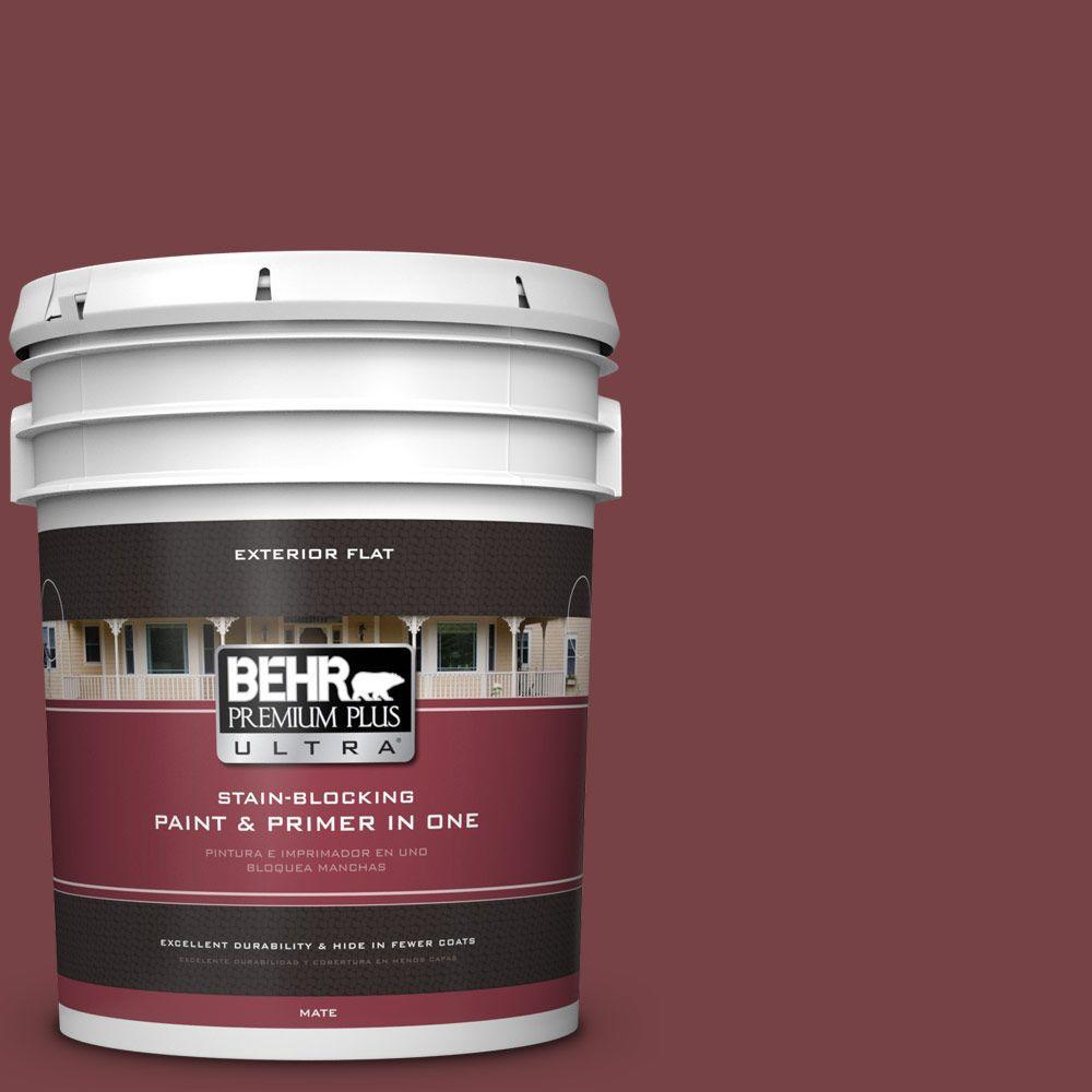 BEHR Premium Plus Ultra 5-gal. #150F-7 Burnt Tile Flat Ex...