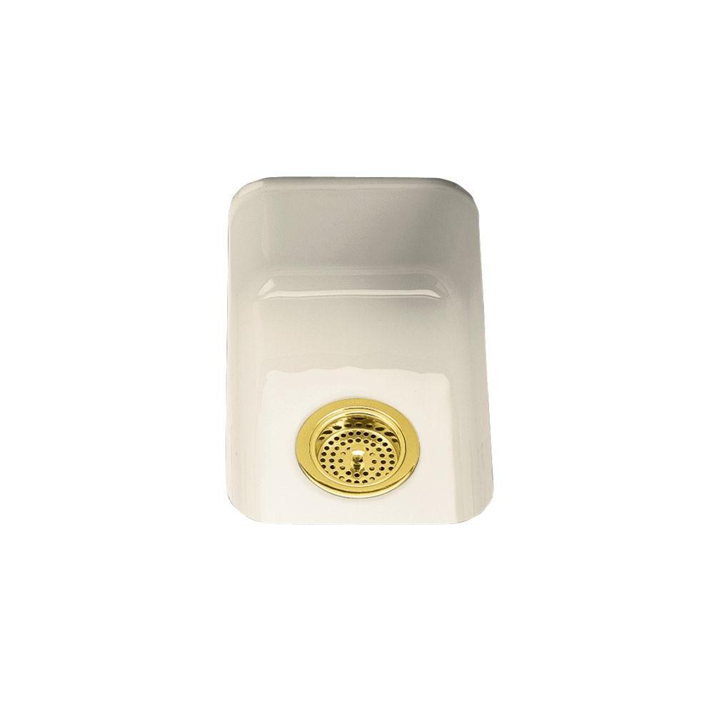 KOHLER Iron/Tones Self-Rimming/Undercounter Cast Iron 12 in. x 18-3/4 in.x 6.25 in.0 Hole Single Bowl Kitchen Sink-DISCONTINUED