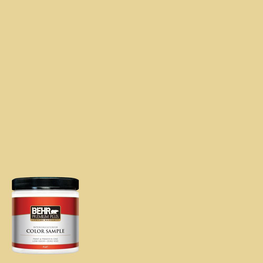 BEHR Premium Plus 8 oz. #260F-4 Sunset Beige Flat Interior/Exterior ...