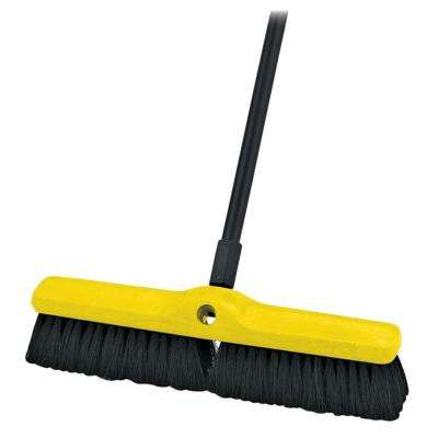 3 in. L Black Plastic Foam Block Broom Head