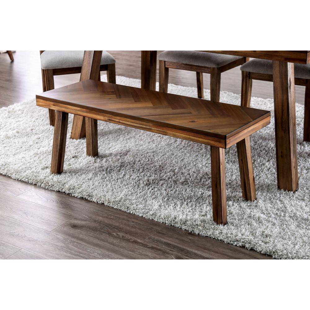 Pauletta Light Oak Angled Legs Dining Bench
