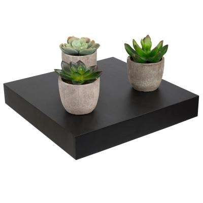 9.25 in. x 9.25 in. x 9.25 in. Black Short Rectangle Floating Shelf