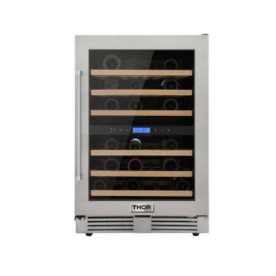 24 in. 46-Bottles Built-in Indoor/Outdoor Independent Dual Zone Wine Cooler
