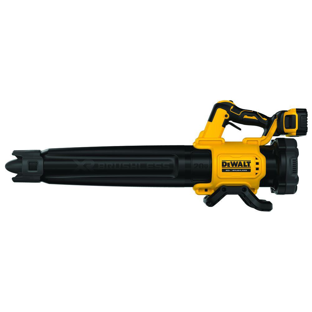 DEWALT 125 MPH 450 CFM 20V MAX Lithium-Ion Cordless Brushless Blower with (1) 5.0Ah Battery and Charger Included