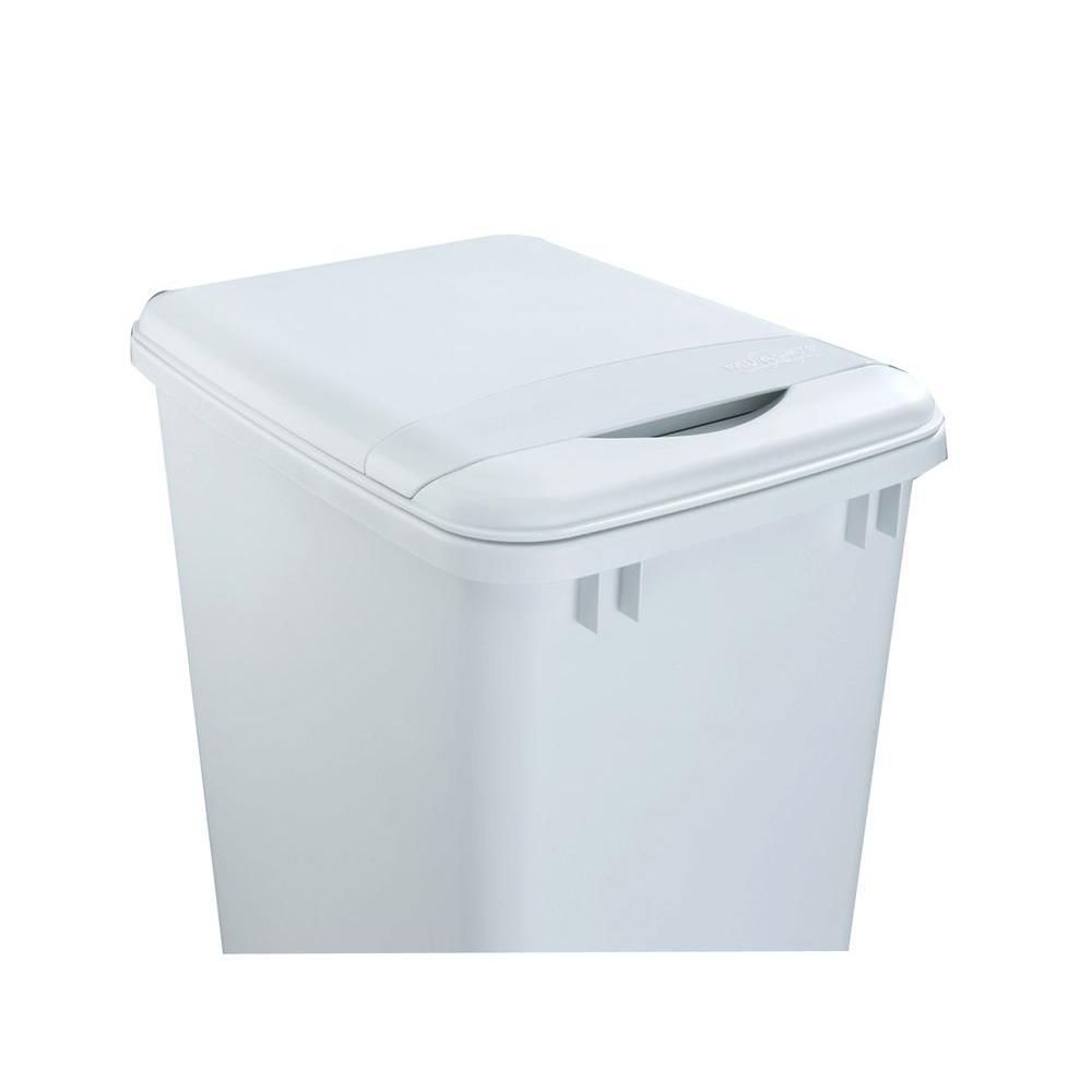 Rev A Shelf 50qt Pull Out Trash Can White Plastic Lid