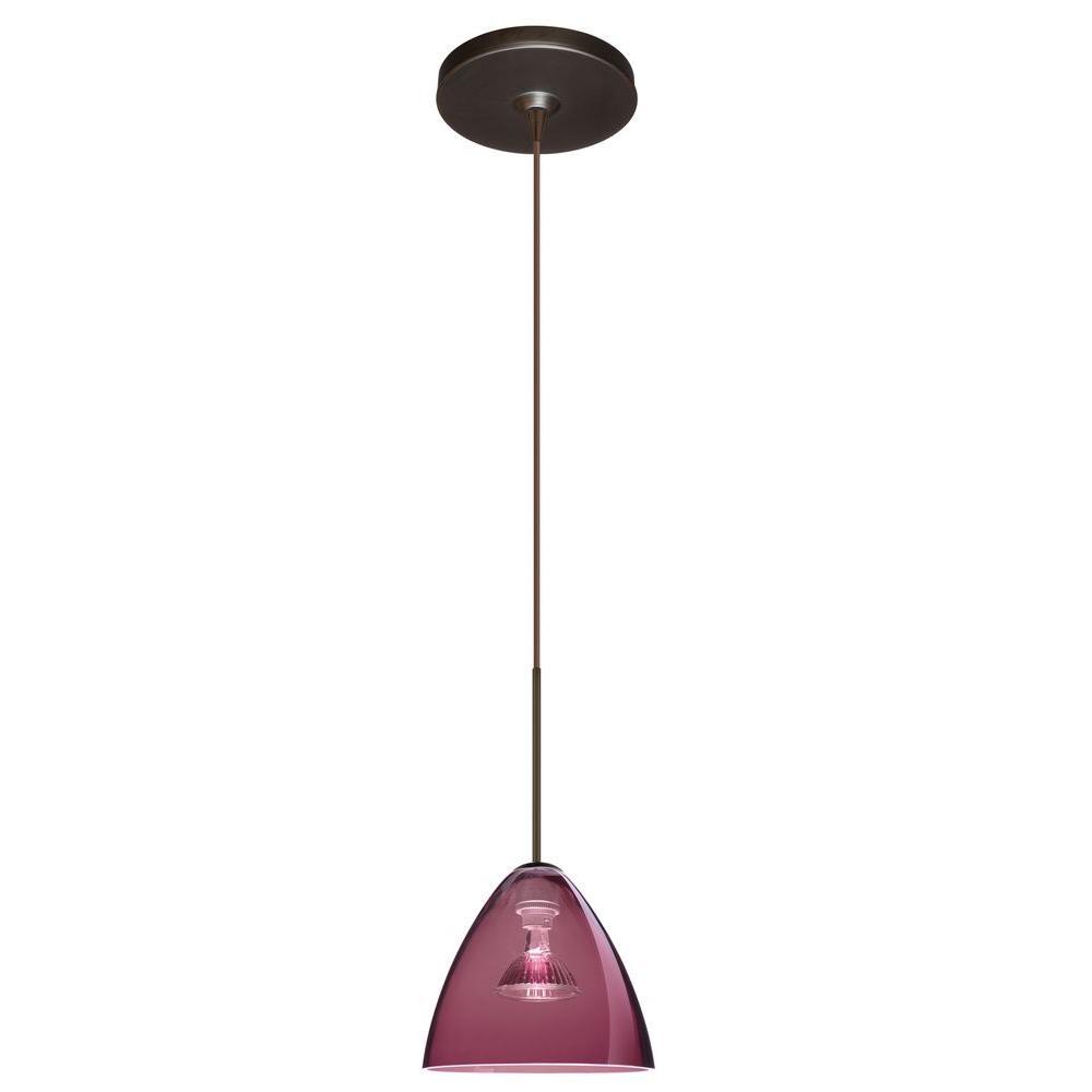 Filament Design Manhattan 1 Light Bronze Halogen Pendant-DISCONTINUED